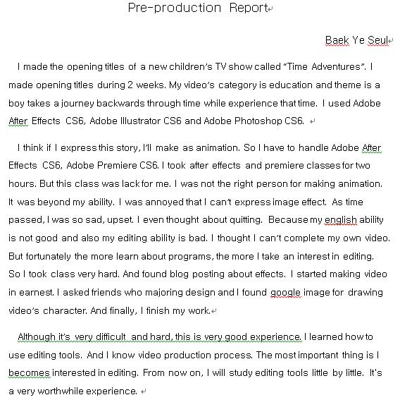 How do I write a report?